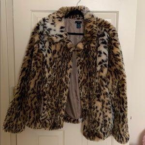Furry cheetah coat
